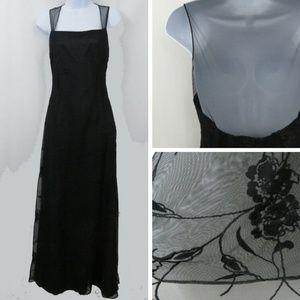 Lauren Ralph Lauren Black Lace Evening Dress
